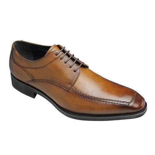 【MODELLO (モデーロ)】靴内の温度調節機能搭載のロングノーズ脚長ビジネスシューズ・(Uチップ)・DM340(ライトブラウン)/メンズ 靴