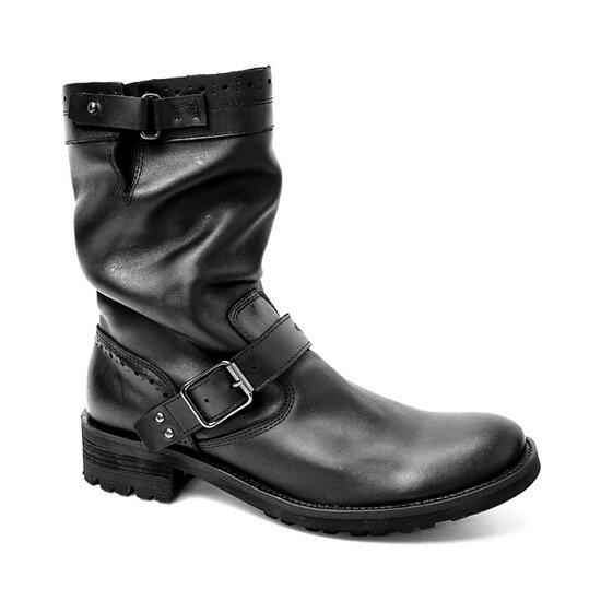 【RED COVER(レッドカバー)】お兄系本革ドレープエンジニアブーツ・RC11107(ブラック)【送料無料】/メンズ 靴