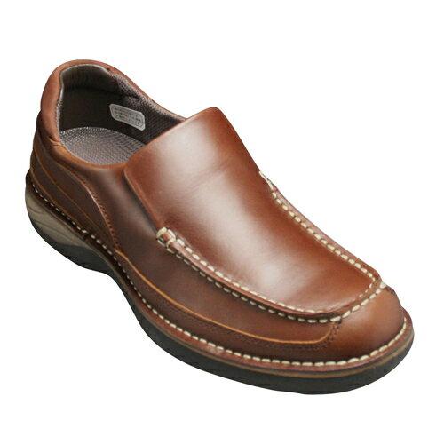 【REGAL WALKER(リーガル ウォーカー)】オイルドレザーのコンフォートカジュアルシューズ(スリッポン)・149W(ダークブラウン)/メンズ 靴