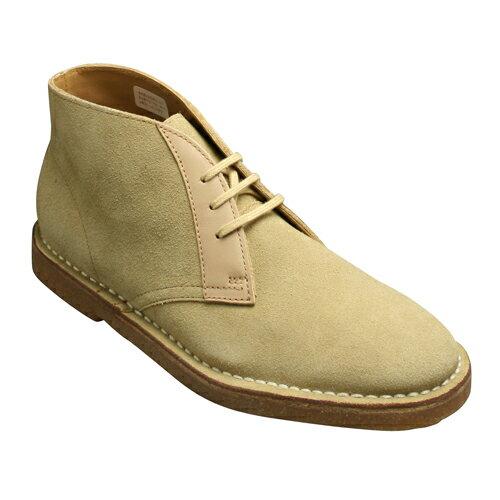 【REGAL STANDARDS(リーガルスタンダーズ)】牛革スエードの3アイレットチャッカーブーツ・62AR(ベージュベロア)/メンズ 靴