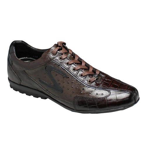 【SALAMANDER(サラマンダー)】高級感あふれる都会派ロングノーズのヨーロピアンスニーカー・SA534(ダークブラウン)/メンズ 靴