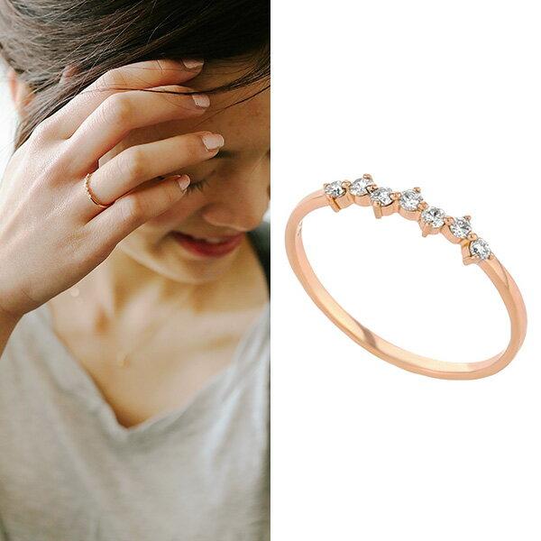 【送料無料】K18 ピンクゴールド ダイヤモンド リング【ESTELLE エステール】【4月 誕生石】18金 18k ダイヤ ダイア 指輪 シンプル 重ね付け ギフト プレゼント レディース