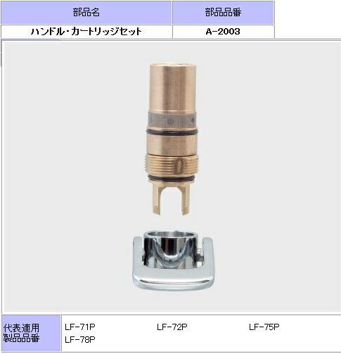 【INAX】 水栓部品 ハンドル、カートリッジセットA-2003