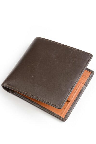 ホワイトハウスコックス s7532 ダービーコレクション 二つ折り小銭入れ付財布 バイカラーモデル フランス産ホースハイド(馬革) 英国製 ブラウン x タン