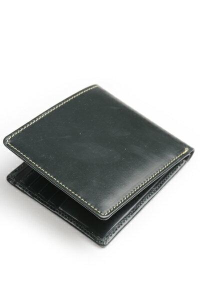 ホワイトハウスコックス Whitehouse Cox s8772 ノートケースグリーン ブライドルレザー 小銭入れ無し二つ折り財布