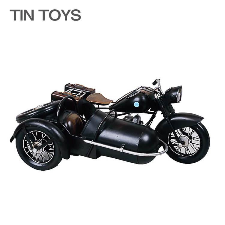 ブリキのおもちゃ(side car)(サイドカー オートバイ 玩具 置物 インスタ映え オブジェ インテリア小物 レトロ アンティーク 車) 週末ポイント5倍 【RCP08】