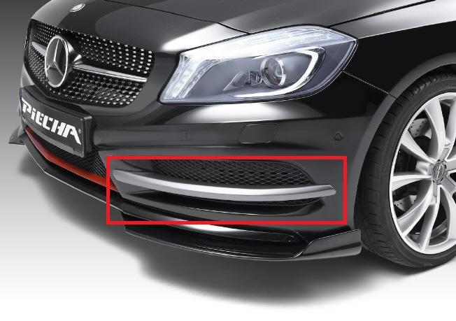 《PIECHA DESIGN ピーシャ デザイン》◇フロントスプリッター◇Mercedes Benz メルセデス ベンツ AクラスW176(AMGスタイリング車用)