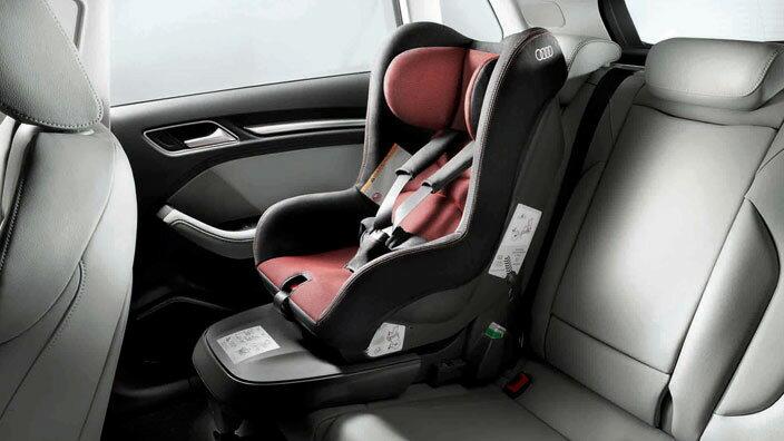 Audi アウディ 純正チャイルドシート ISO-FIXチャイルドシートG1 (ミサノレッド/ブラック) 【ISO-FIX用ベース 別売】