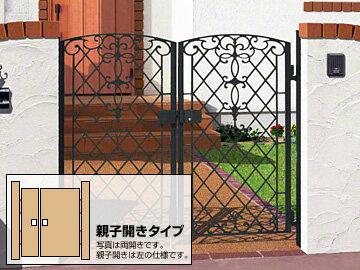 三協アルミ キャスリート1型 両開き親子 ゲート・門扉【現場打ち合わせ無料・全国工事対応】