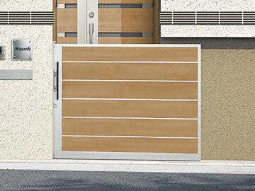 LIXIL(TOEX) アウタースライドD型 戸当り柱仕様 マテリアルカラー ゲート・門扉【現場打ち合わせ無料・全国工事対応】