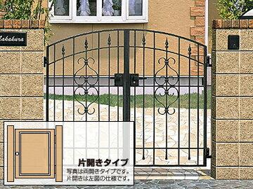 LIXIL(TOEX) コラゾン1型 片開き ゲート・門扉【現場打ち合わせ無料・全国工事対応】