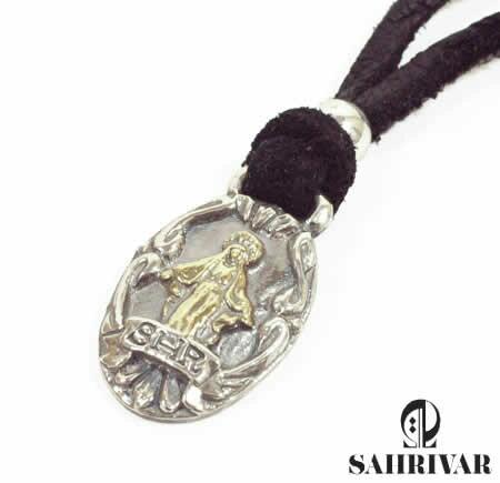 SAHRIVAR シャフリーバル SN15S10A シルバー マリア レザー ネックレス