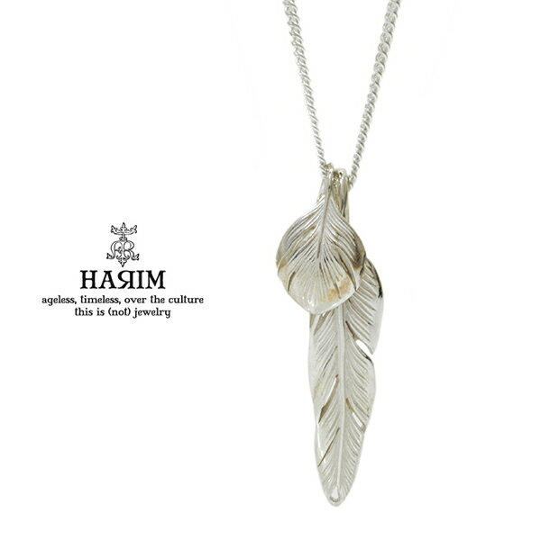 HARIM ハリム HRP104 WH Slender feathers Very shine/WHフェザー ネックレス ネイティブ 羽根