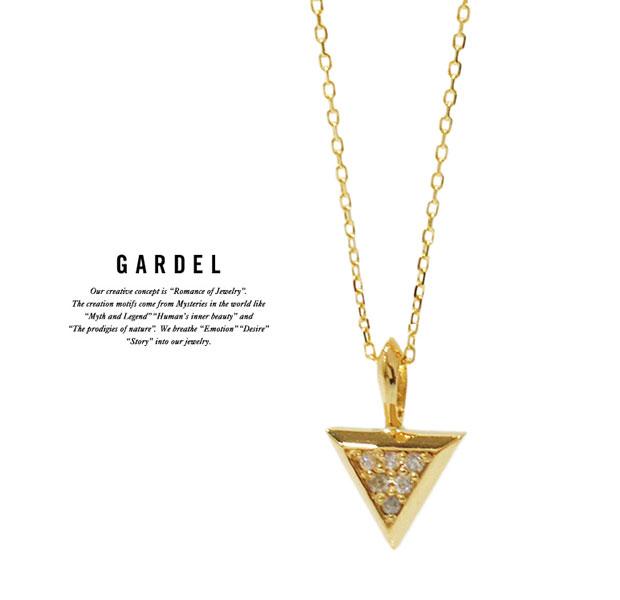 GARDEL ガーデル/GDP-104 TRES LINE NECKLACE/ネックレスK18 GOLD/ゴールド/メンズ/レディース/アクセサリー/ジュエリー