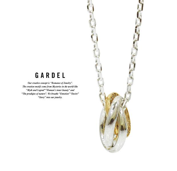 GARDEL ガーデル/GDP-106 TRES LINE NECKLACE /ネックレスK18 GOLD/ゴールド/メンズ/レディース/アクセサリー/ジュエリー