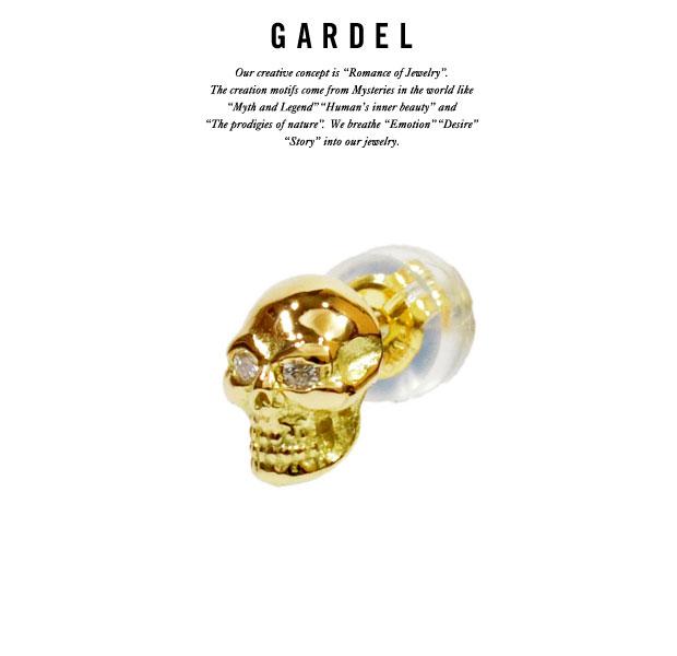 GARDEL ガーデルgde004JUDE PIERCEPierce/ピアスK18 GOLD/ゴールド/DIAMONDダイヤモンド/スカル/SKULLメンズ/レディース/アクセサリー