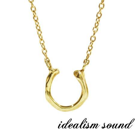 【idealism sound】 イデアリズムサウンド idealismsound No.13085 K10 Gold Necklace10金 ゴールド ホース シュー ネックレス メンズ レディース【あす楽対応】