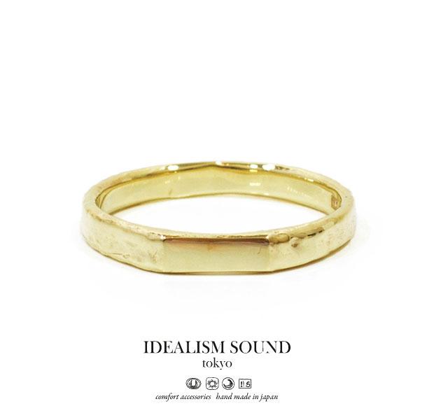 【idealism sound】/イデアリズムサウンドidealismsound/No.14091リング/RINGハンドメイドメンズ/レディース/アクセサリー/ネイティブ/K10/ゴールド
