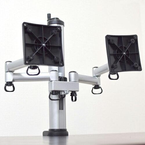 【ポイント10倍】[SB]サンコー SPACESAVER(デュアル) 高さ調整機構付モニタアーム LCDADTD3