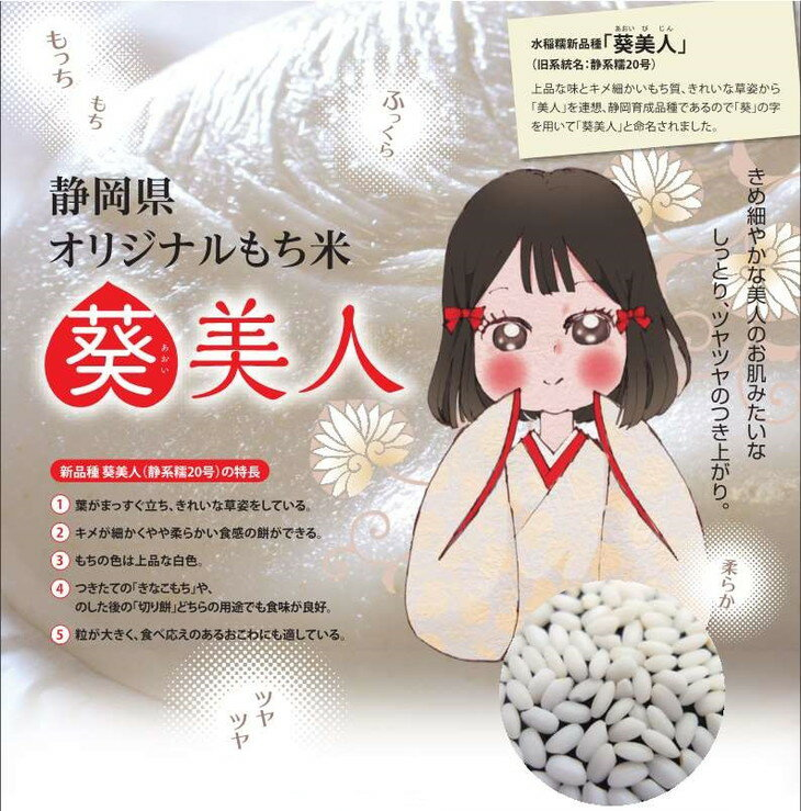 【ふるさと納税】遠州森町産「葵美人」もち米10kg