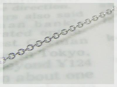 丸アズキネックレス:スライド調整式(長さ45cm:幅1.1mm)/ホワイトゴールドK10