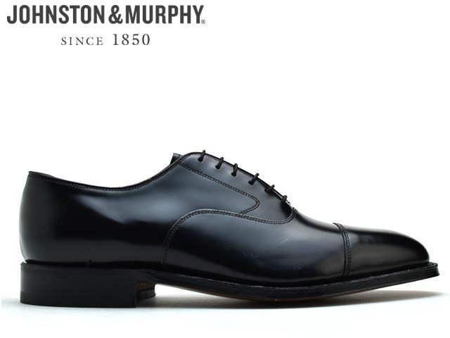 ジョンストン&マーフィー ストレートチップ JOHNSTON&MURPHY Melton Cap Toe ブラック 22-2981【送料無料!】メンズ ビジネス ドレス