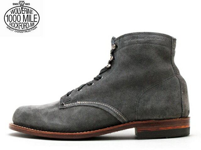 ウルバリン 1000マイルブーツ 送料無料 ウルヴァリン WOLVERINE 1000MILE BOOTS W40193 グレースエード Made in USA【送料無料!】メンズ ブーツ men's boots