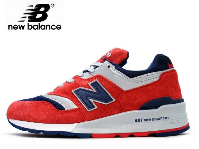 ニューバランス 997 new balance メンズ M997 CSIY レッド/ネイビー maden in USA men's sneaker newbalance メンズ スニーカー【送料無料!】【あす楽対応】