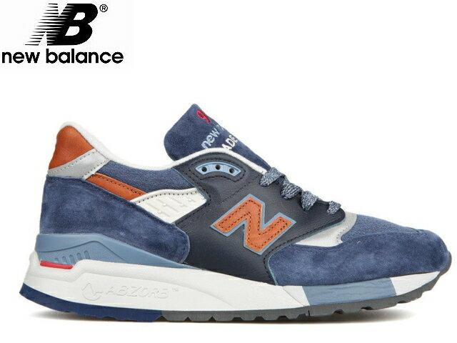 ニューバランス 998 ネイビー newbalance メンズ M998 DSNG ネイビー/ブラウン made in USA men's sneaker メンズ スニーカー【送料無料!】【あす楽対応】