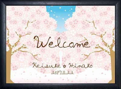 グラフィックウェルカムボード 満開桜/結婚式ウェルカムボード