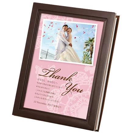 [送料無料]ウッディーアルバム レース/結婚式両親へのプレゼント