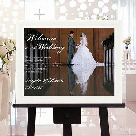 Photoウエルカムボード1shotA3サイズ/結婚式ウェルカムボード