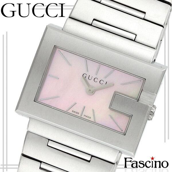 [厳選]グッチ GUCCI Gレクタングル 30mm レディース 腕時計 ピンクパール ステンレススチール ya100518