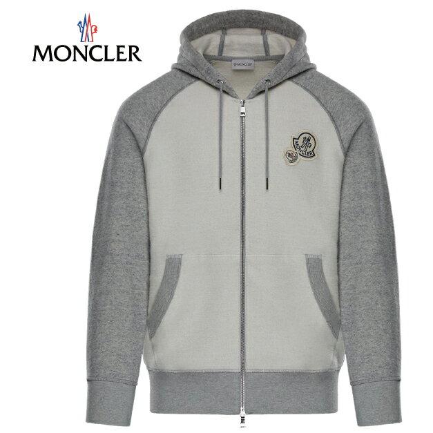 Moncler モンクレール 2017-2018年秋冬新作 SWEAT-SHIRT(スウェットシャツ)  パーカー スウェット ダウン ホワイト ジャケット メンズ ジャケット プレミア 高級