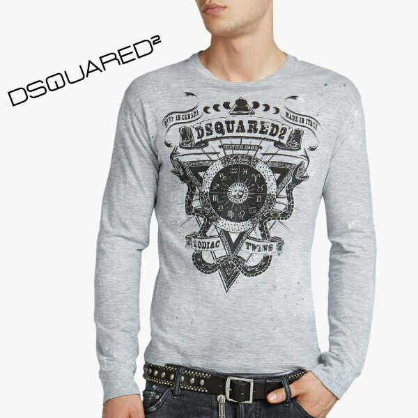 Dsquared2 ディースクエアード メンズ ロングTシャツ S74GD0063 S22146 グレー 長袖シャツ ロンT 2015-2016年秋冬新作