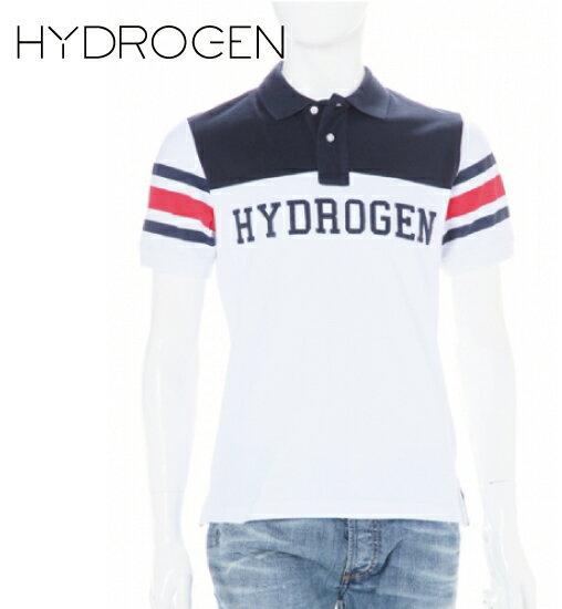 [HYDROGEN] ハイドロゲン 2015年春夏新作 ハイドロゲン ポロシャツ スカル ホワイト×ネイビー 160609
