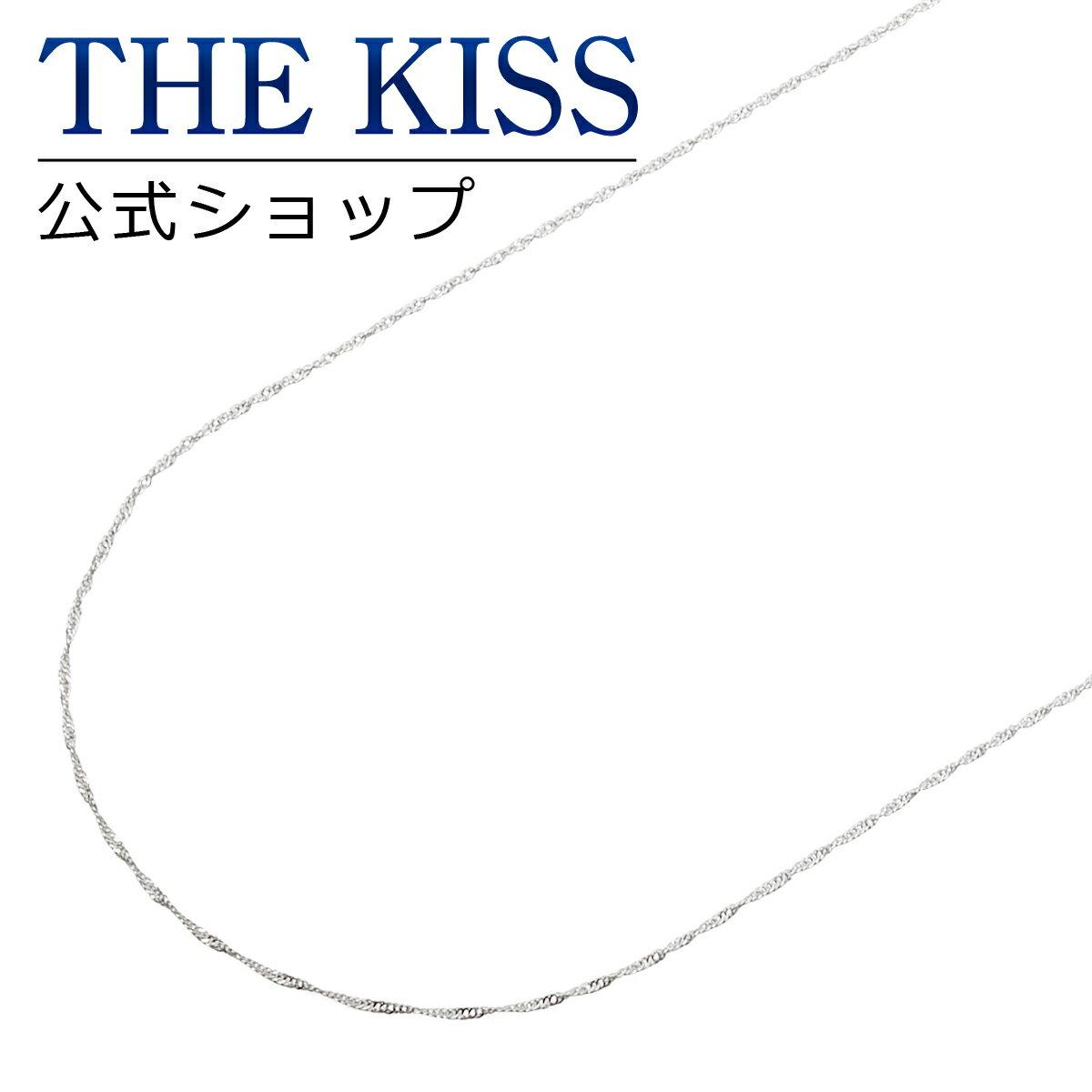 【あす楽対応】 【送料無料】【THE KISS sweets】K10ホワイトゴールド チェーン 45cm☆