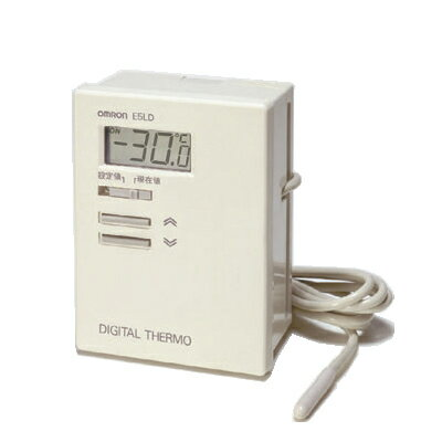 在庫� オムロン E5LD-2C AC100 デジタルサーモ 表示��0.1(℃) 一体形サーミスタ入力 リード線長�2m 正動作(冷�用) リレー出力(接点1a) 設定温度範囲-10.0~40.0(℃)