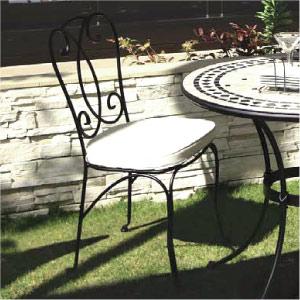 ガーデンチェアー:ネイチャーズストーン ペテル ビストロチェアー (クッション付) AXBC-0270WC[F-253]【fsp2124-6f】【あす楽対応不可】【全品送料無料】
