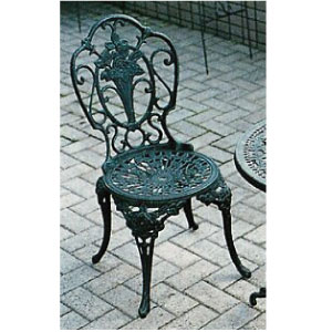 ガーデンチェアー:アルミ鋳物チェアー(大)[F-278]【fsp2124-6f】【あす楽対応不可】【全品送料無料】