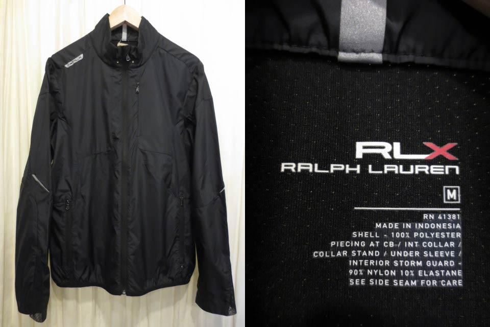 【サンプル品】Ralph Lauren RLX ラルフローレン ウインドブレーカー 黒 表記(M)【中古】【古着 mellow楽天市場店】【ゴルフ】