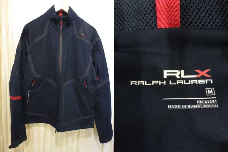 【サンプル品】POLO Ralph Lauren RLX ラルフローレン ウインドブレーカー ネイビー (M)【中古】【古着 mellow楽天市場店】【ゴルフ】