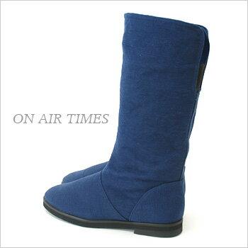 綿麻素材の大人可愛いスプリングブーツ(春ブーツ)♪シンプルデザインでコーデに万能! 【送料無料】