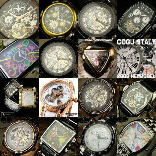 送料無料!ブランド腕時計2本にブラックルチル・パワーストーンのおまけ付き★2013年福袋★