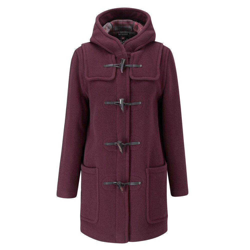 グローバーオール レディース アウター コート【Mid Length Original Fit Duffle Coat】burgundy