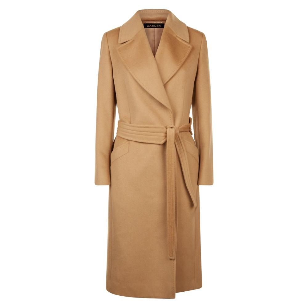 イエ-ガ- レディース アウター コート【Wool Wrap Coat】camel