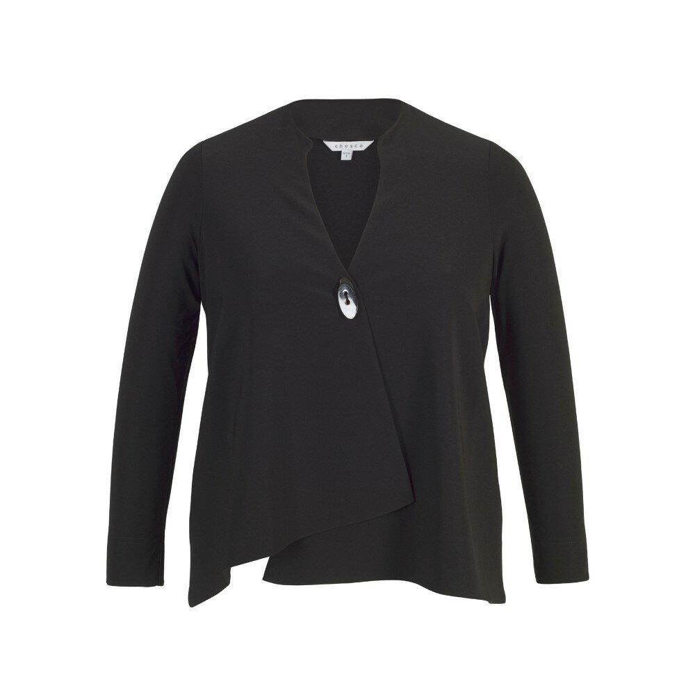 チェスカ レディース アウター ジャケット【Asymmetric Jersey Jacket】black