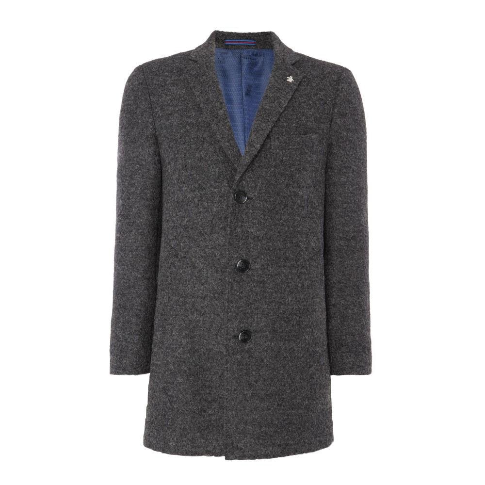オリジナルペンギン メンズ アウター コート【Charcoal Grey Boucle Overcoat】charcoal