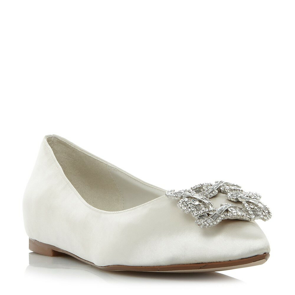 デューン レディース シューズ・靴 スリッポン・フラット【Briella Brooch Trim Flat Shoes】ivory