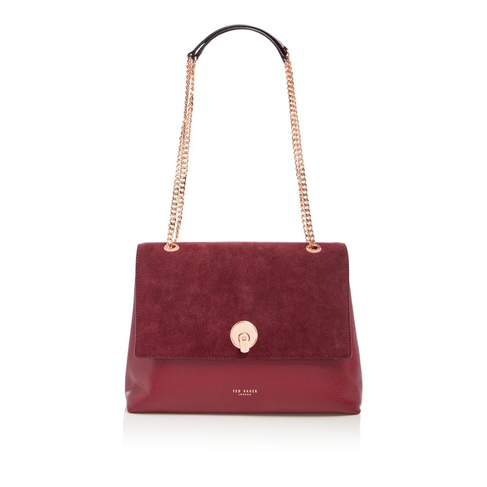 テッドベーカー レディース バッグ ショルダーバッグ【Sophina Suede Circle Lock Shoulder Bag】burgundy